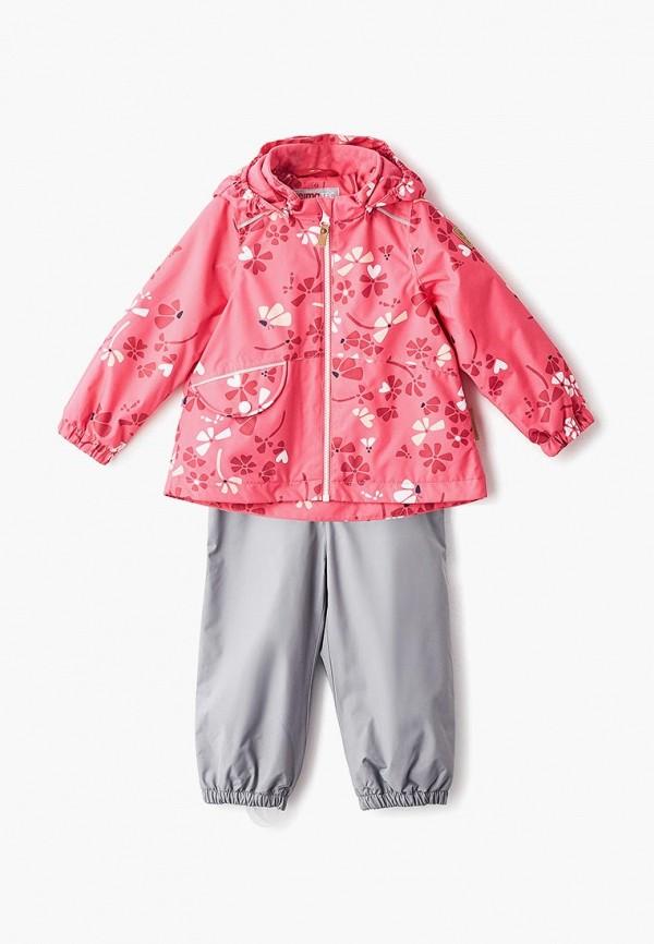Reima | розовый, серый Утепленный костюм Reima для девочек | Clouty