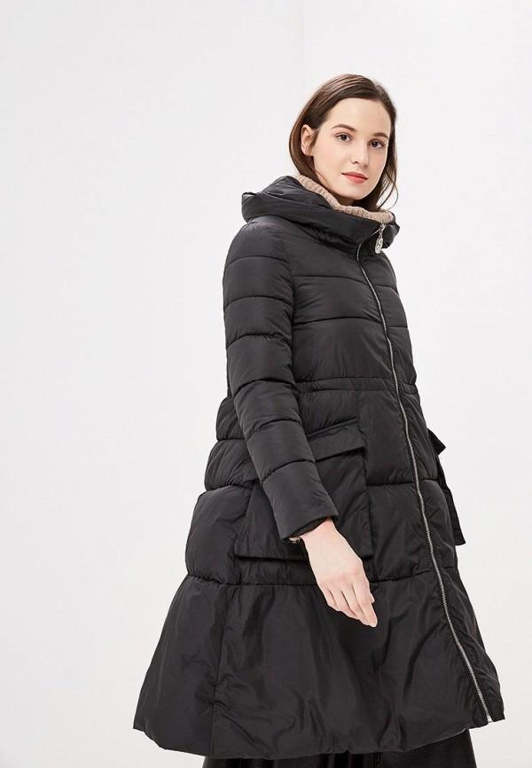 Rossa   черный Женская зимняя черная утепленная куртка Rossa   Clouty