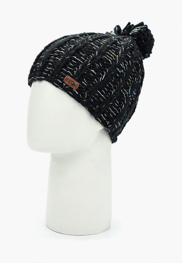 Roxy   черный Женская черная шапка Roxy   Clouty