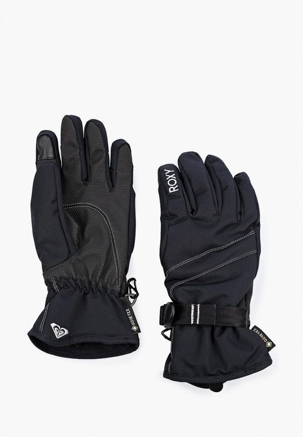 Roxy | черный Женские черные горнолыжные перчатки Roxy | Clouty