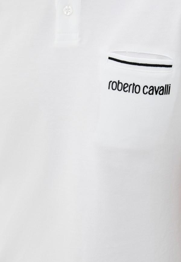 Roberto Cavalli | белый Мужское белое поло Roberto Cavalli | Clouty