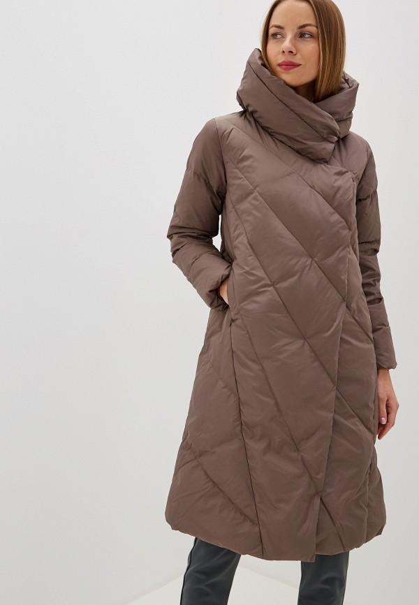SAVAGE | Женский зимний коричневый пуховик SAVAGE | Clouty