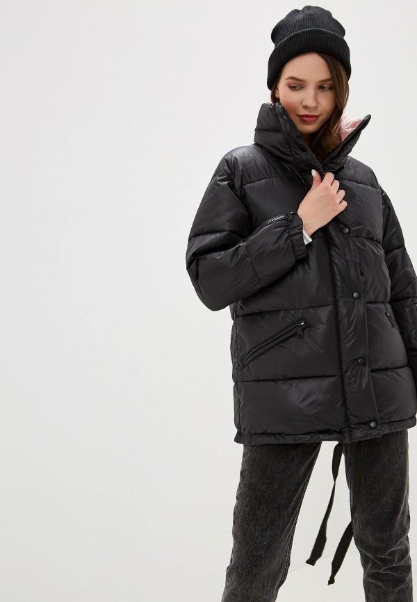 SAVAGE | черный Женская зимняя черная утепленная куртка SAVAGE | Clouty