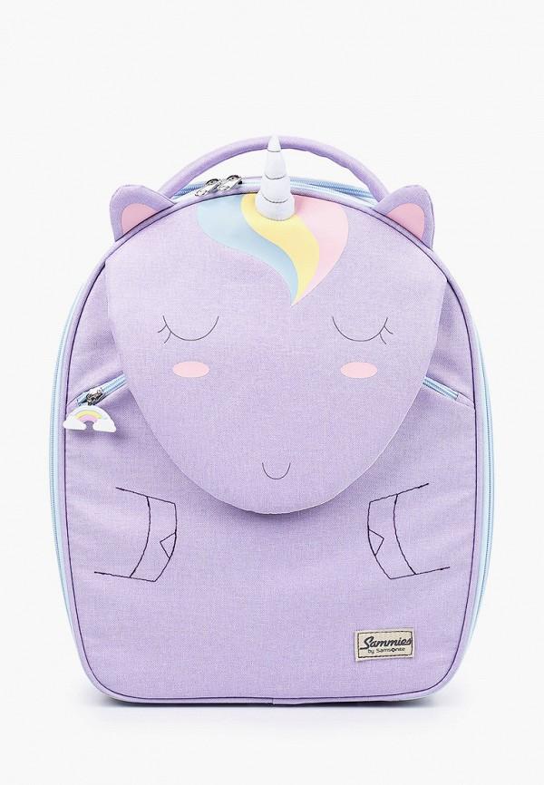 Samsonite | Фиолетовый чемодан Samsonite для девочек | Clouty