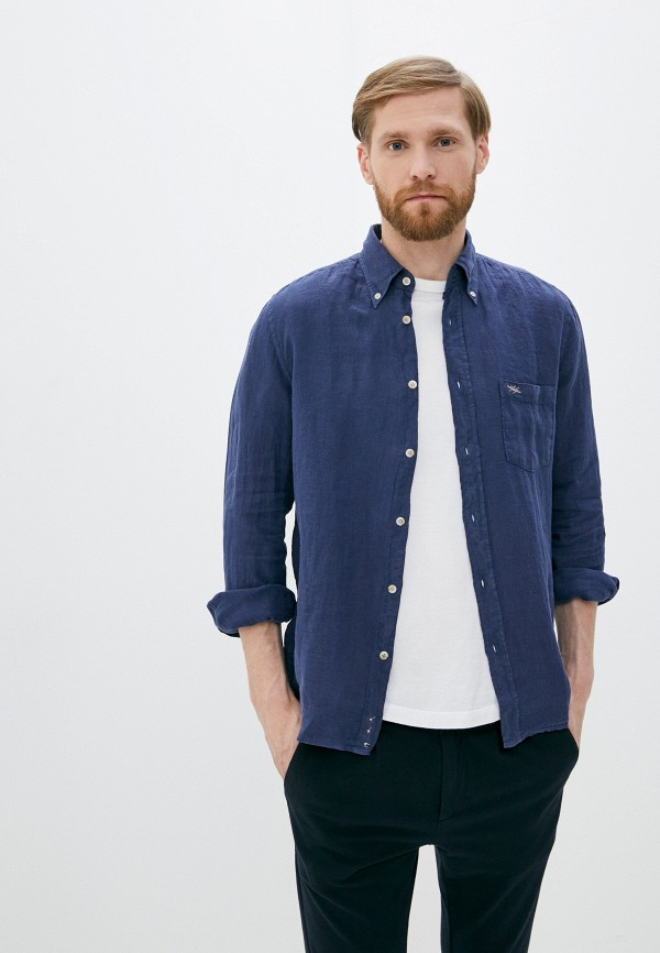 Seventy | синий Мужская синяя рубашка Seventy | Clouty