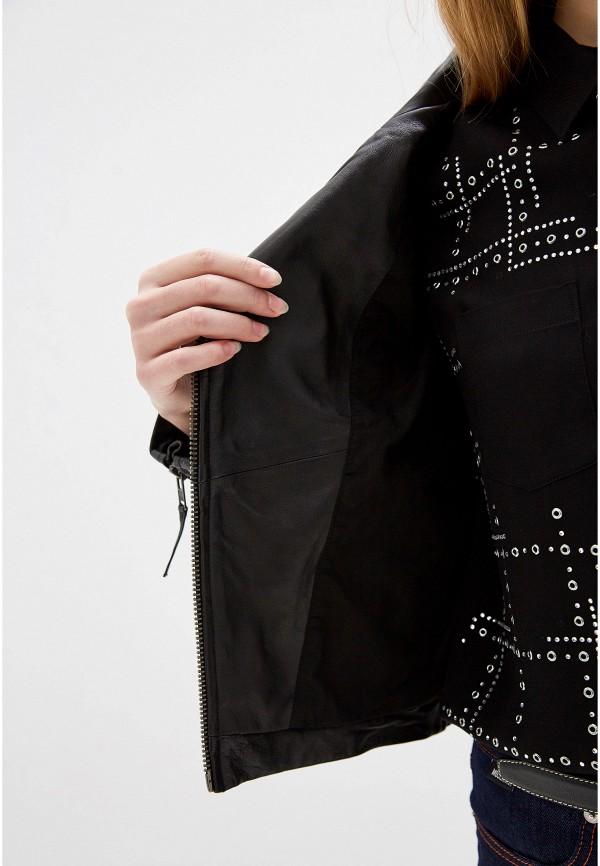 Serge Pariente | черный Женская черная кожаная куртка Serge Pariente | Clouty