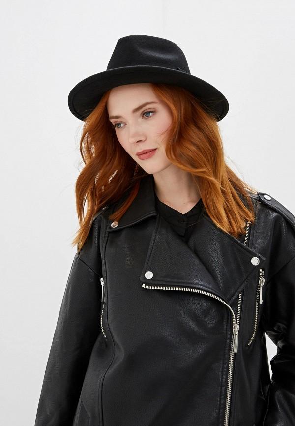 SH | черный Женская черная кожаная куртка SH | Clouty