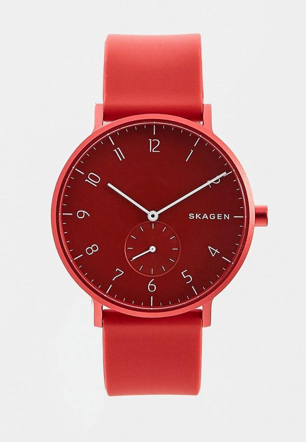 Skagen Denmark   красный Красные часы Skagen Denmark   Clouty