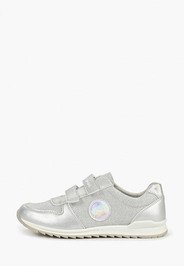 Сказка | серебряный Серебряные кроссовки Сказка резина для девочек | Clouty