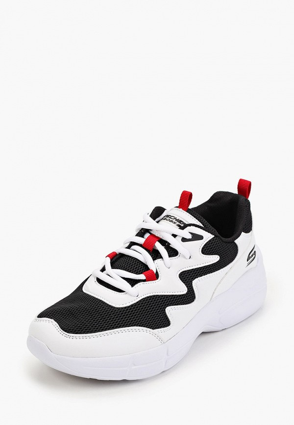 Skechers | белый Женские белые кроссовки Skechers резина | Clouty