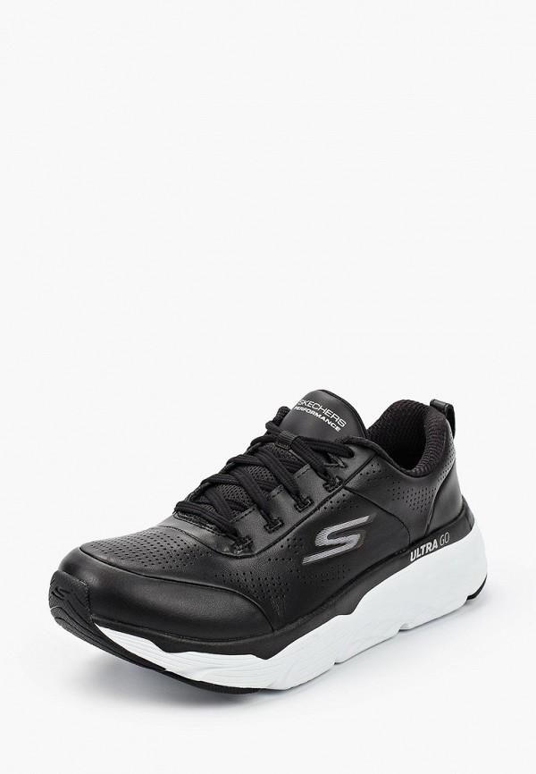 Skechers | черный Женские черные кроссовки Skechers искусственный материал | Clouty