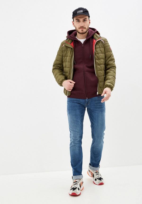S.Oliver | хаки Мужская утепленная куртка S.Oliver | Clouty