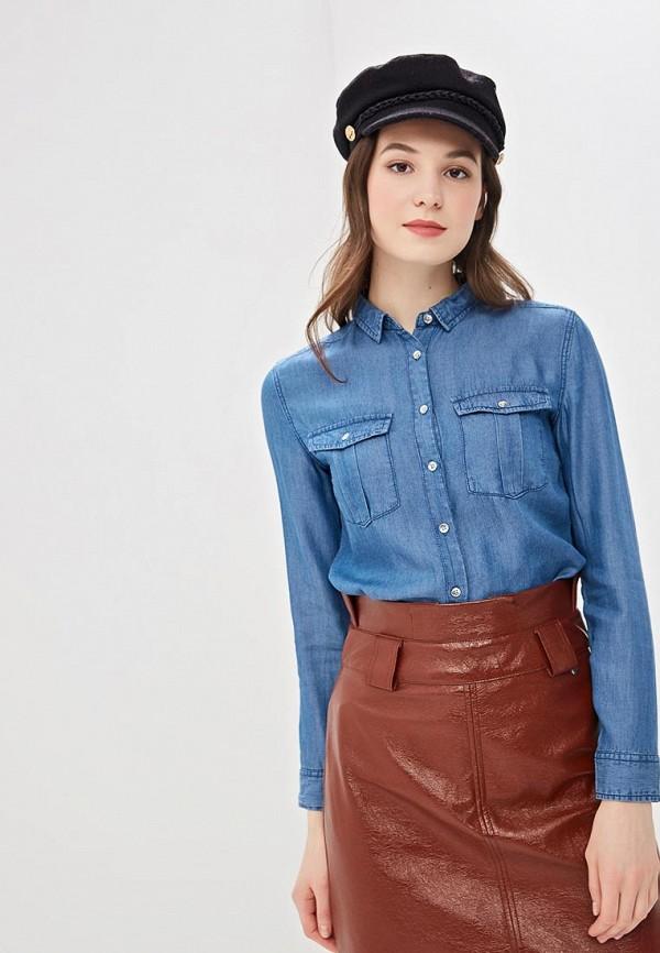 Springfield | синий Женская синяя джинсовая рубашка Springfield | Clouty