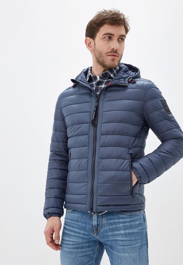 Strellson | синий Мужская синяя утепленная куртка Strellson | Clouty