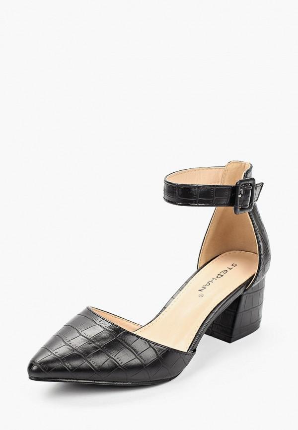 Stephan | черный Женские черные туфли Stephan искусственный материал | Clouty