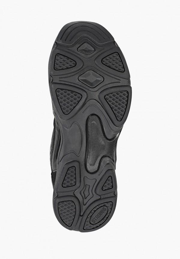 Strobbs | черный Мужские черные кроссовки Strobbs резина | Clouty