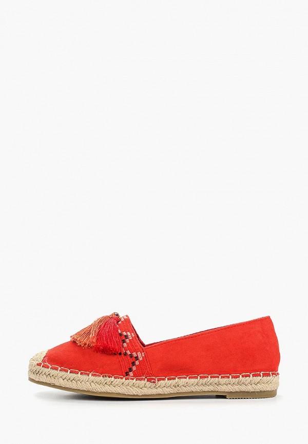 Super Mode   красный Женские летние красные эспадрильи Super Mode полиуретан   Clouty