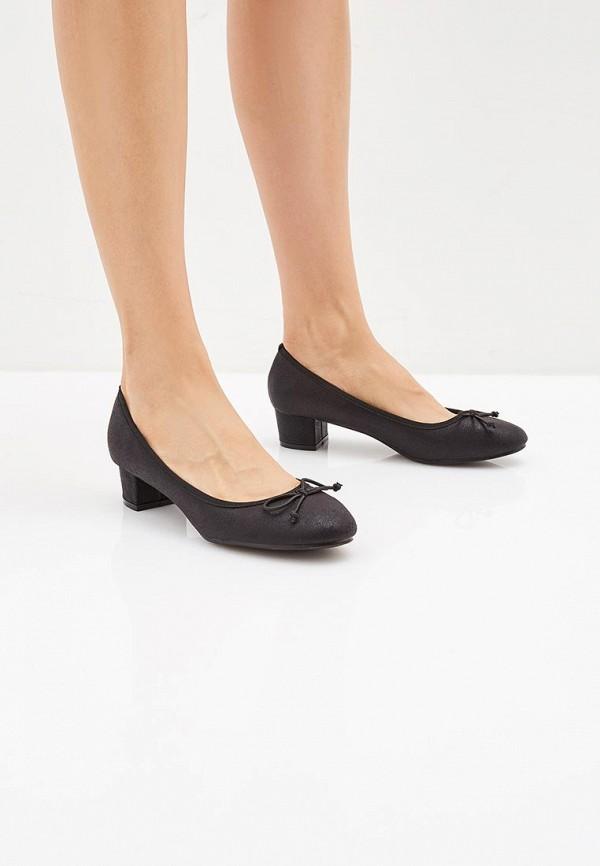 Super Mode | черный Черные туфли Super Mode искусственный материал | Clouty