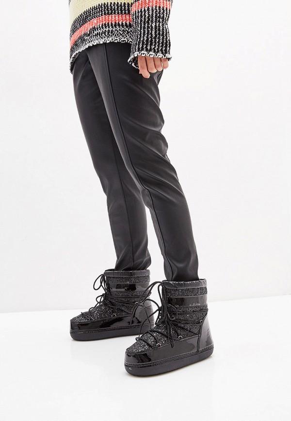 Sweet Shoes | черный Женские зимние черные луноходы Sweet Shoes резина | Clouty