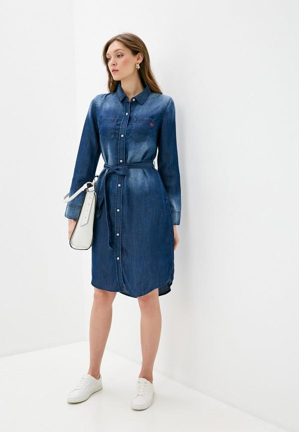 Taifun | синий Синее джинсовое платье Taifun | Clouty