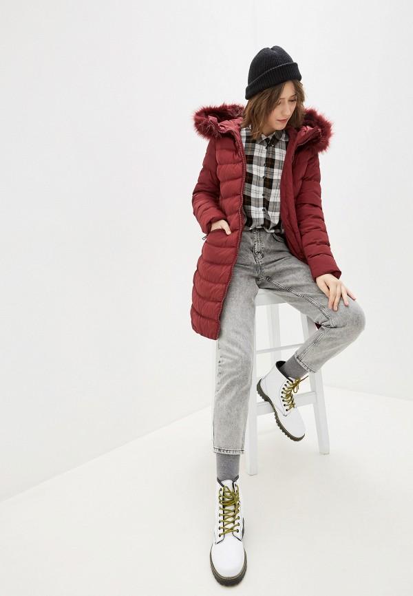Tantra | бордовый Женская зимняя бордовая утепленная куртка Tantra | Clouty