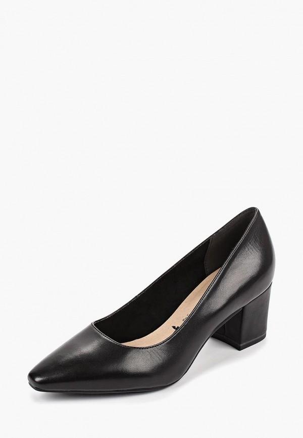 Tamaris | черный Женские черные туфли Tamaris резина | Clouty