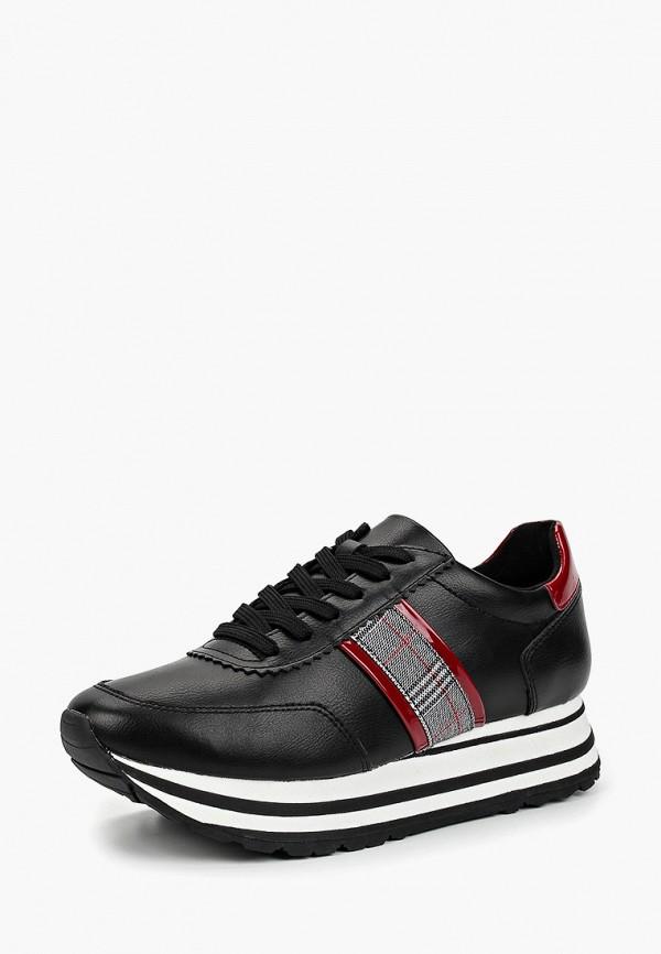 Tamaris | черный Женские черные кроссовки Tamaris искусственный материал | Clouty