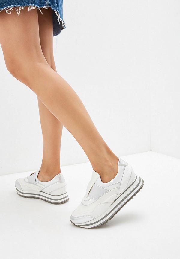 Tamaris | белый Женские белые кроссовки Tamaris искусственный материал | Clouty