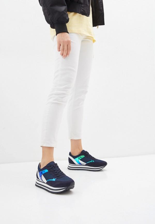Tamaris   синий Женские синие кроссовки Tamaris искусственный материал, резина   Clouty