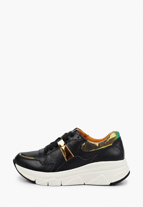 Tamaris | черный Женские черные кроссовки Tamaris резина | Clouty