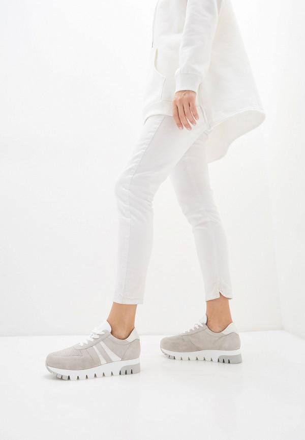 Tamaris | серый Женские серые кроссовки Tamaris искусственный материал | Clouty