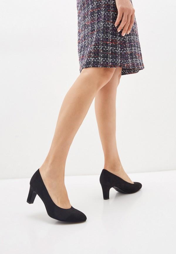 Tamaris | черный Черные туфли Tamaris искусственный материал | Clouty