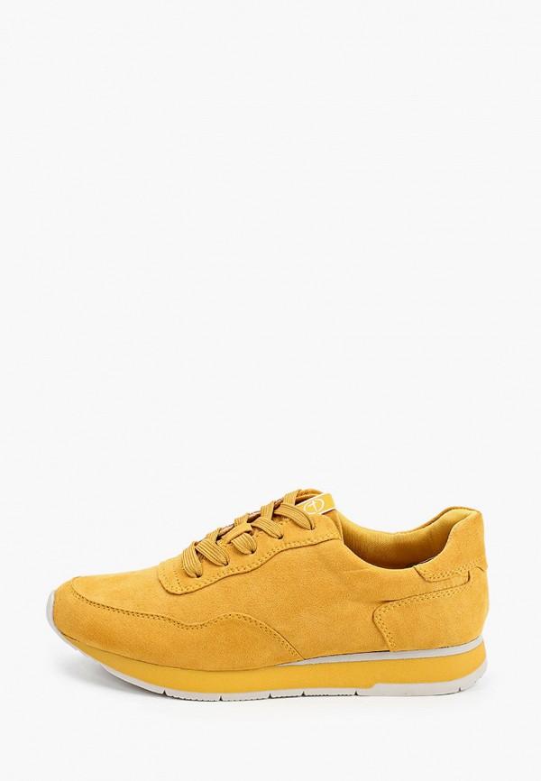 Tamaris | желтый Женские желтые кроссовки Tamaris искусственный материал | Clouty