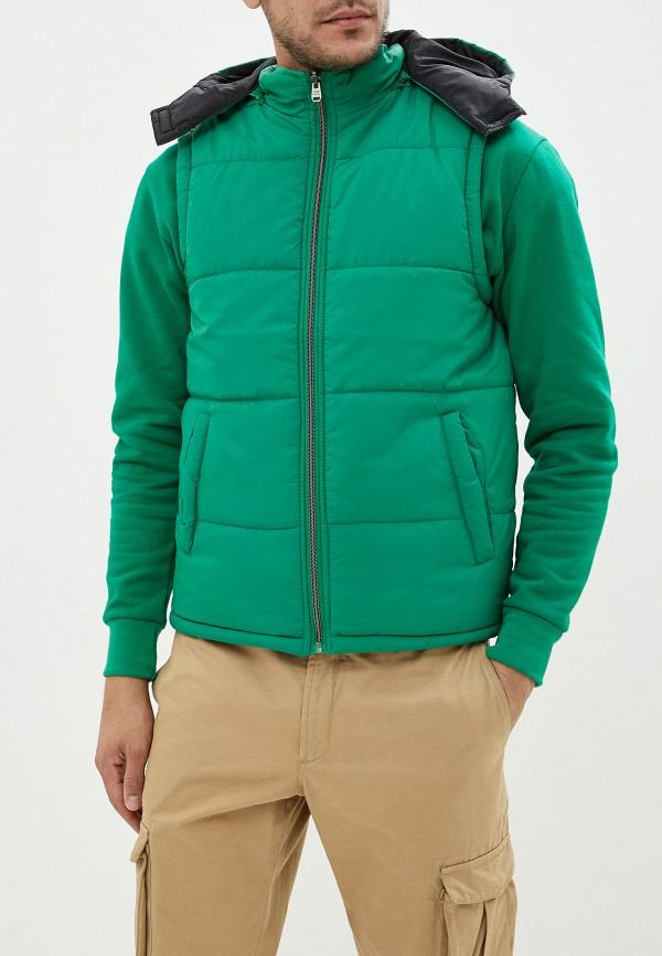 Tiffosi | Мужской зеленый утепленный жилет Tiffosi | Clouty