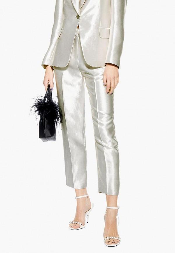 TOPSHOP | серебряный Женские серебряные брюки TOPSHOP | Clouty