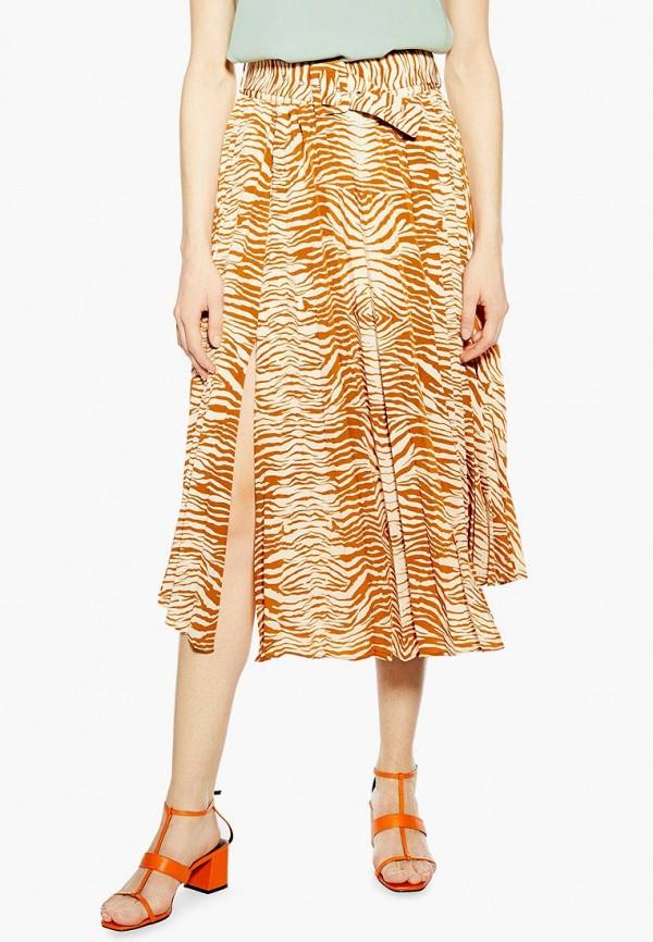 TOPSHOP | оранжевый Женская летняя оранжевая юбка TOPSHOP | Clouty