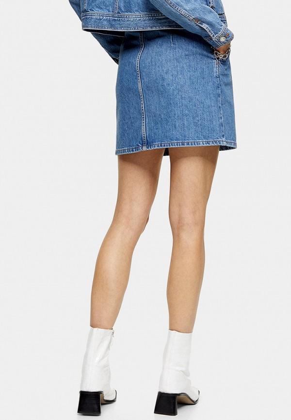 TOPSHOP | голубой Голубая джинсовая юбка TOPSHOP | Clouty