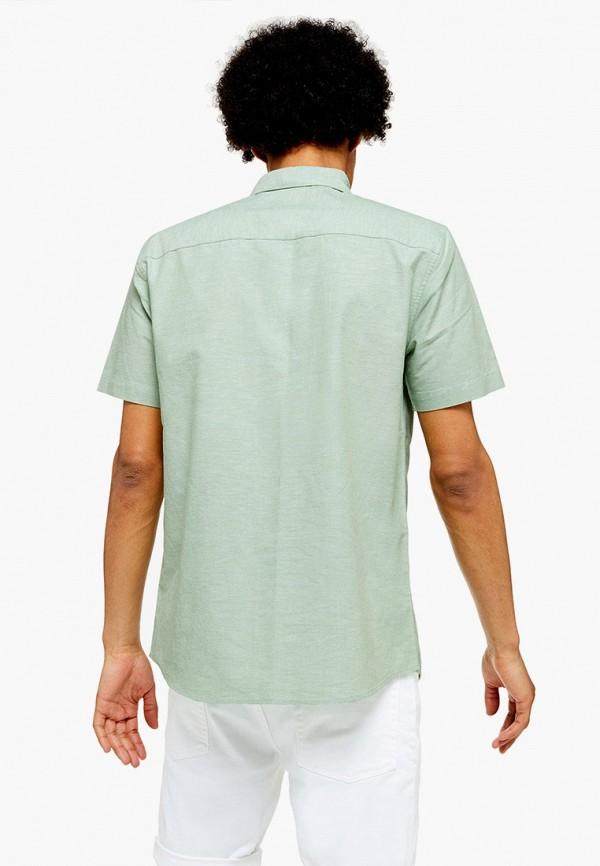 Topman | зеленый Мужская летняя зеленая рубашка Topman | Clouty