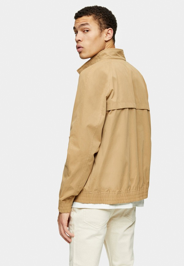Topman   бежевый Мужская бежевая куртка Topman   Clouty