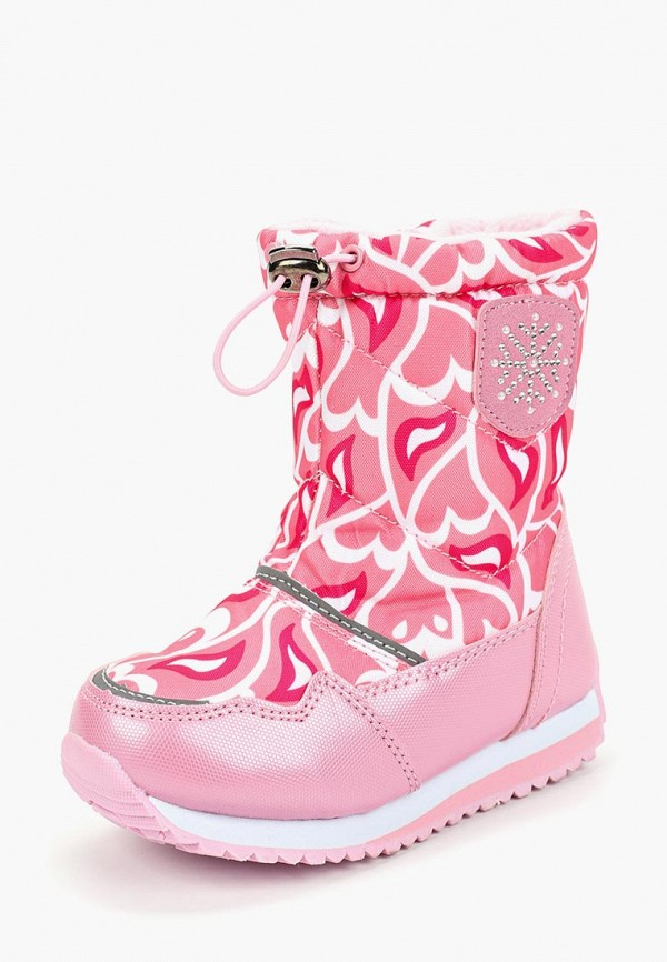 Tom-Miki   розовый Зимние розовые дутики Tom-Miki термопластиковая резина для девочек   Clouty