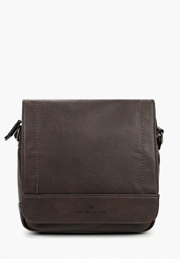 TOM TAILOR   коричневый Мужская коричневая сумка TOM TAILOR   Clouty