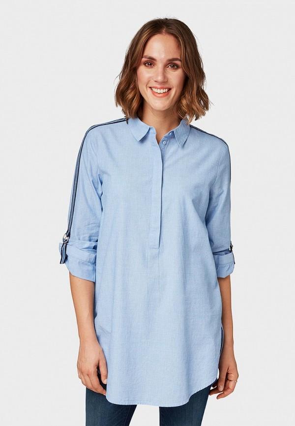 TOM TAILOR | голубой Женская голубая блуза TOM TAILOR | Clouty