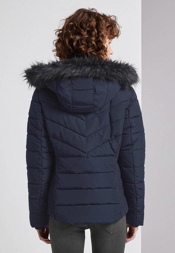 TOM TAILOR   синий Женская синяя утепленная куртка TOM TAILOR   Clouty