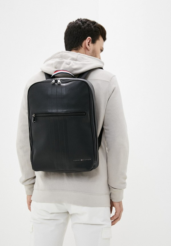 TOMMY HILFIGER | Мужской черный рюкзак TOMMY HILFIGER | Clouty
