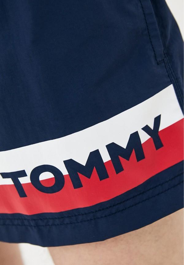 TOMMY HILFIGER | синий Мужские летние синие шорты для плавания TOMMY HILFIGER | Clouty