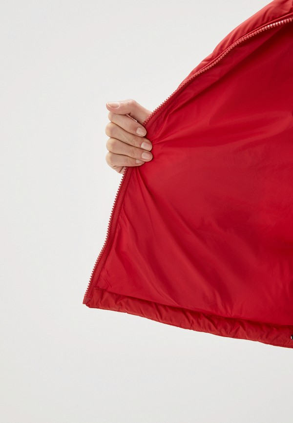 TOMMY HILFIGER | красный Женская зимняя красная утепленная куртка TOMMY HILFIGER | Clouty