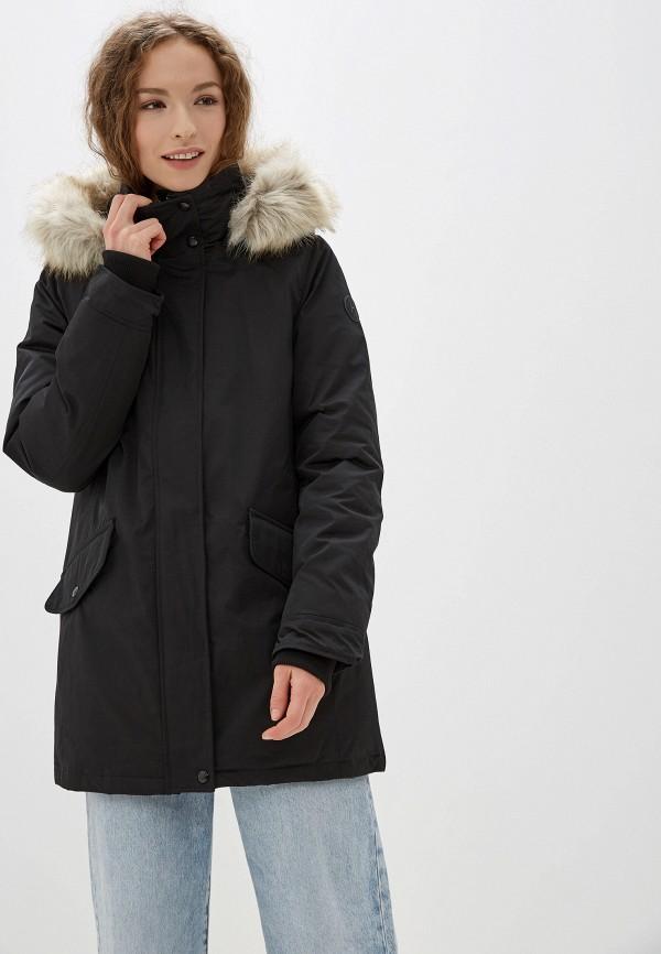 TOMMY HILFIGER | черный Женская зимняя черная утепленная куртка TOMMY HILFIGER | Clouty