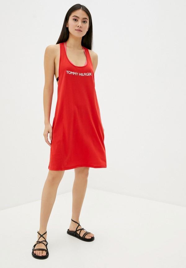TOMMY HILFIGER | красный Летнее красное пляжное платье TOMMY HILFIGER | Clouty