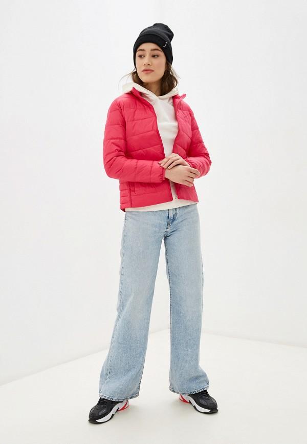 TOMMY HILFIGER   розовый Женская розовая утепленная куртка TOMMY HILFIGER   Clouty
