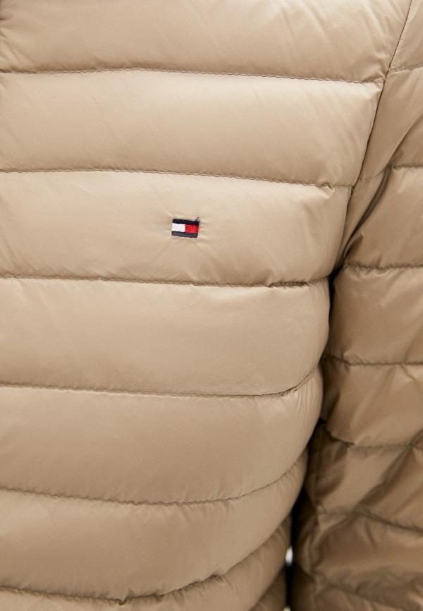TOMMY HILFIGER | бежевый Женская бежевая утепленная куртка TOMMY HILFIGER | Clouty